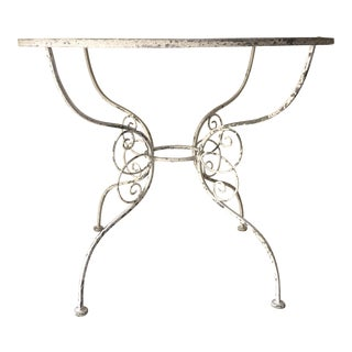 Distressed Outdoor Patio Iron Table