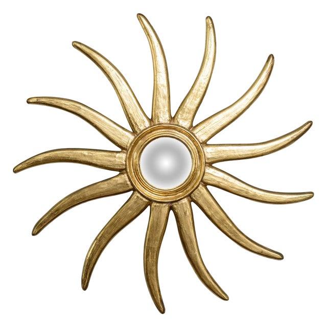 French Giltwood Sunburst Convex Mirror - Image 1 of 10