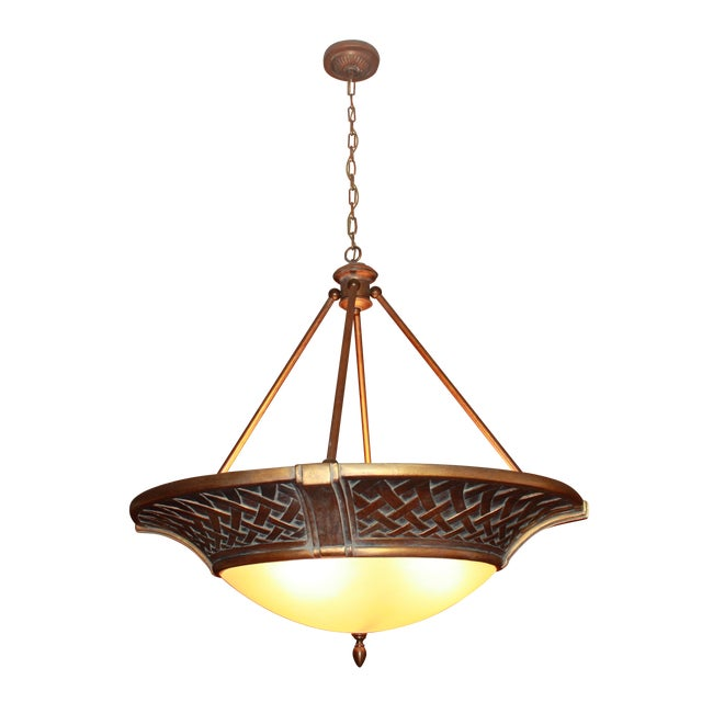 Large Tangier Conection Golden Bronze Chandelier - Image 1 of 5