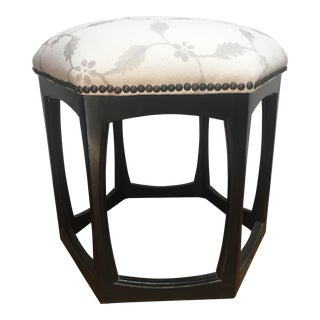 Vintage Moroccan Style Upholstered Footstool
