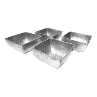 Vintage Nambé Alloy Square Silver Bowls - Set of 4