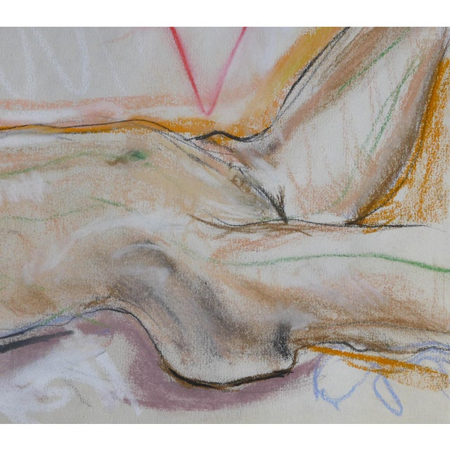 Sunbather Pastel Drawing on Paper - Image 3 of 3