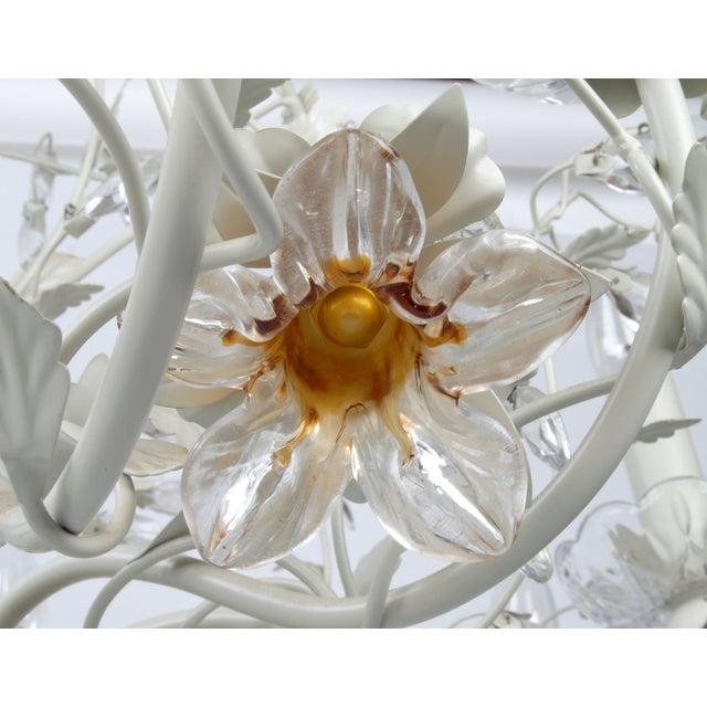 White Metal & Crystal Italian Chandelier - Image 3 of 11