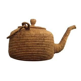 Vintage 1900's Woven Eskimo Teapot