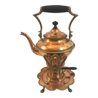 Antique Copper Teapot on Stand