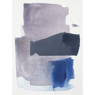 Julia Contacessi Abstract Purple & Blue Painting