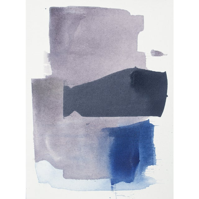 Image of Julia Contacessi Abstract Purple & Blue Painting