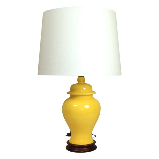 Yellow Ginger Jar Table Lamp - Image 7 of 7