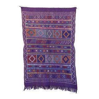 """Purple Vintage Moroccan Cactus Silk - 3'1"""" x 4'9"""""""