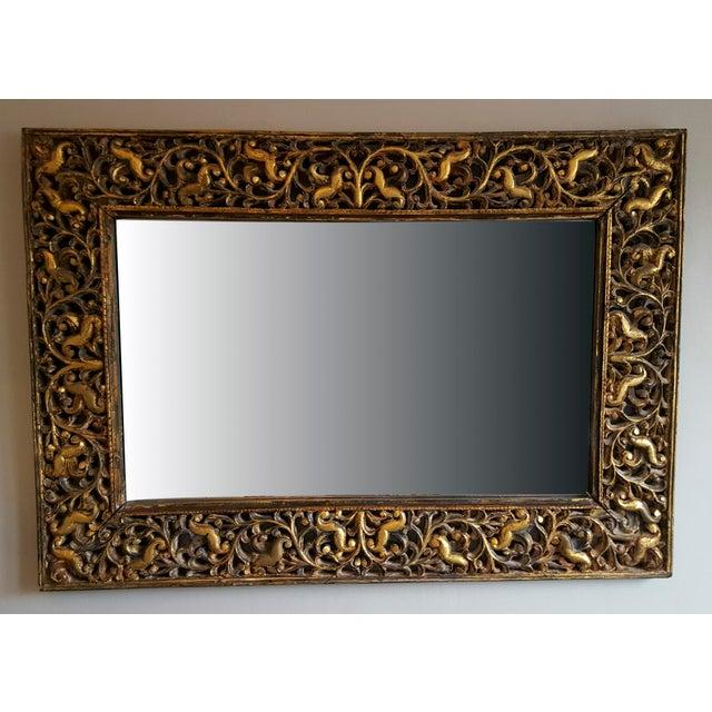 Image of 1940's Vintage Gold Leaf Mirror