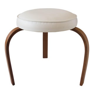 American-Made Stool with Bent Wood Legs
