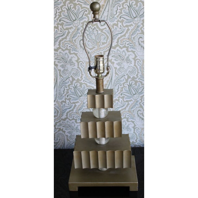 Hollywood Regency Three Tier Table Lamps - Pair - Image 4 of 4