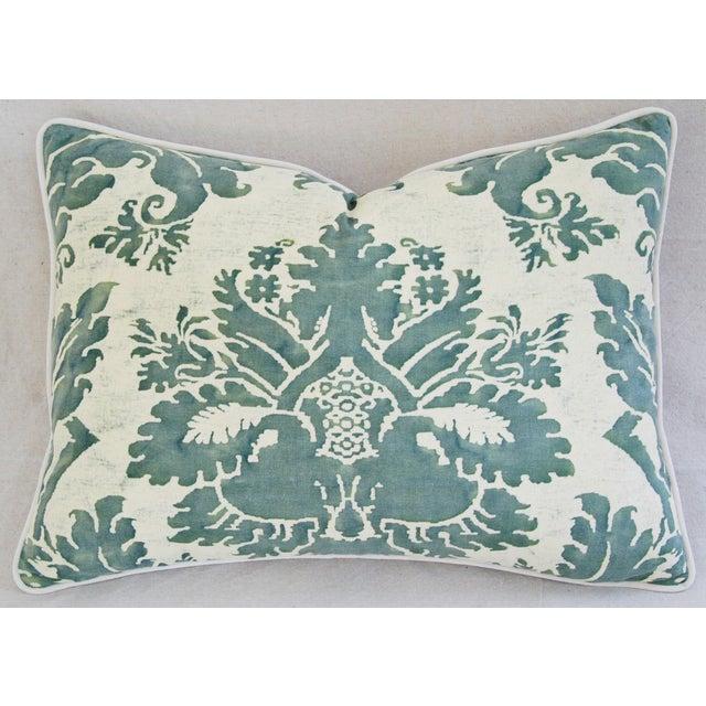 Designer Italian Fortuny Glicine & Velvet Pillow - Image 2 of 6