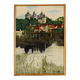 French Normandy Castle Original Oil Painting