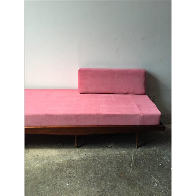 Mid Century Pink Velvet Daybed Sofa Chairish