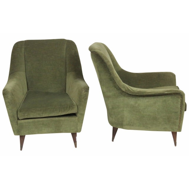 Italian Modern Lounge Chairs - Pair - Image 1 of 8