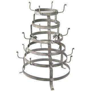 Vintage Inspired Zinc Cup Rack