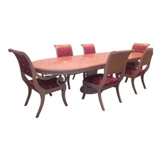 Bernhardt Dining Room Set With Custom Chairs