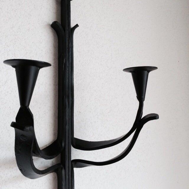 Image of Wrought Iron Danish Inspired Sconce