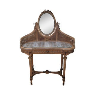 Antique French Louis XVI Style Painted Vanity