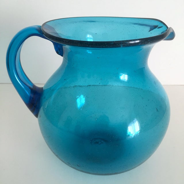 Mid-Century Blue Blenko Glass Pitcher - Image 2 of 11