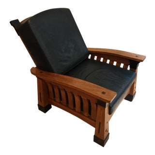 Arts & Crafts Morris Chair Bow Arm