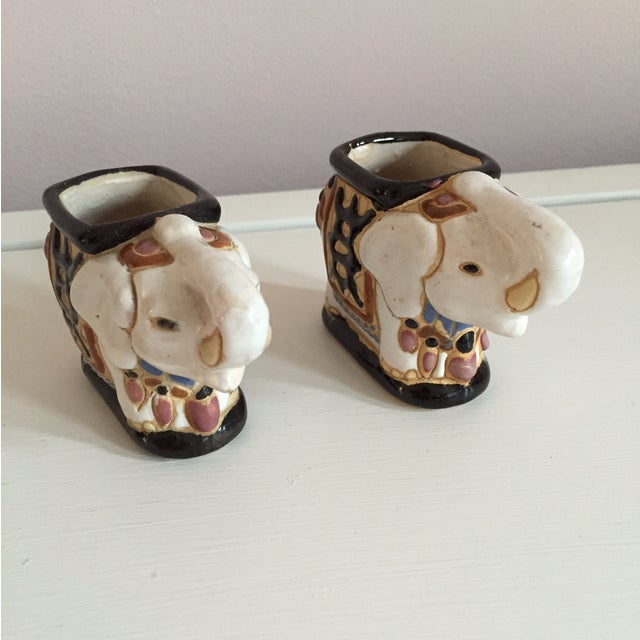 Mini Elephant Ceramic Containers - a Pair - Image 4 of 9