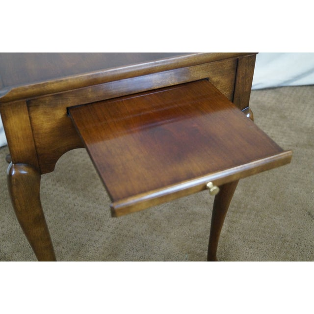 Statton Old Towne Solid Cherry Queen Anne Table - Image 5 of 10