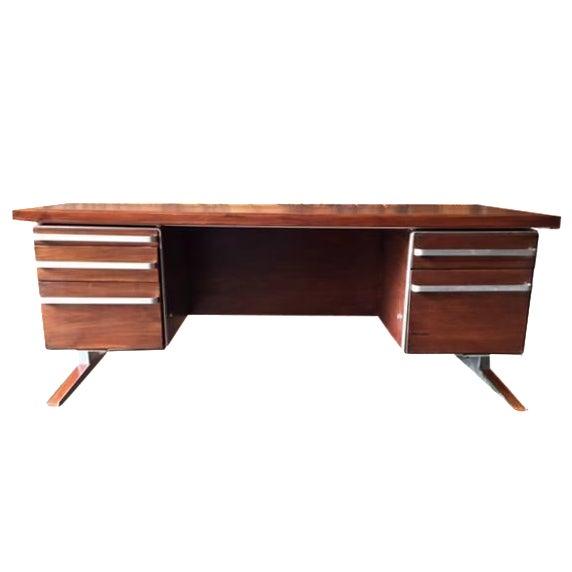 Vintage Cantilevered Executive Desk - Image 1 of 11