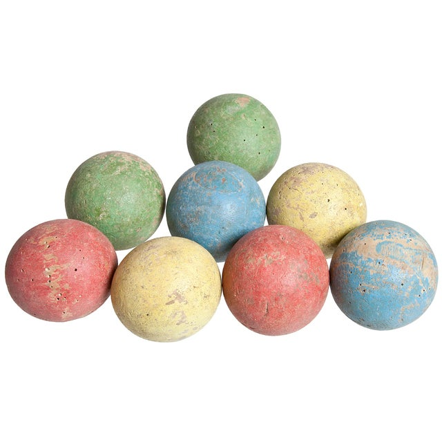 Image of French Wood Boules - Set of 8