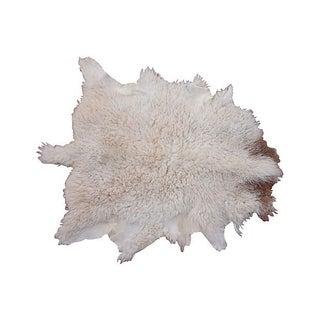 "Large Beni Ourain Natural Sheepskin - 3'x3'11"""