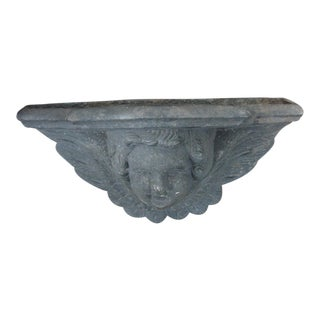 Cast Iron Wall Sconce Planter With Cherub Face