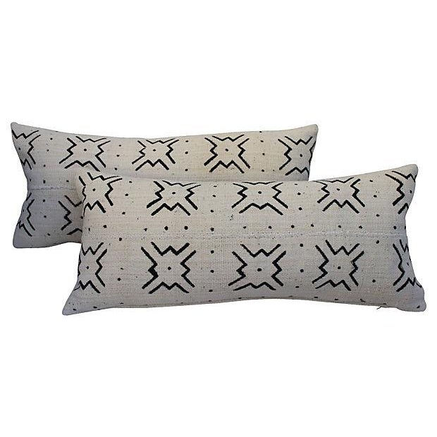 Mali Tribal Mud Cloth Pillows - A Pair - Image 1 of 4