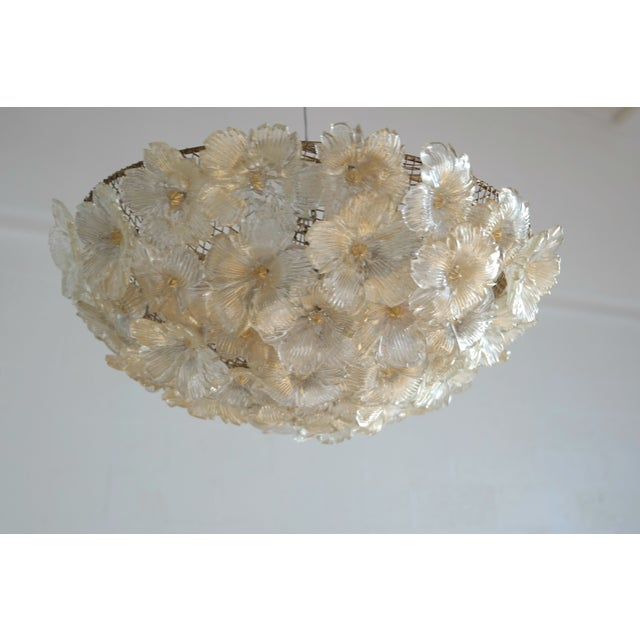Image of Barovier & Toso Floral Murano Glass Chandelier