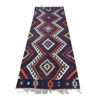 Turkish Runner Kilim Rug - 2′11″ × 9′5″