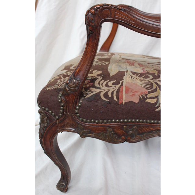 French Louis XV Walnut Arm Chair - Image 6 of 10