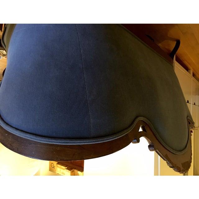 Blue Velvet Victorian Walnut Frame Sofa - Image 5 of 5