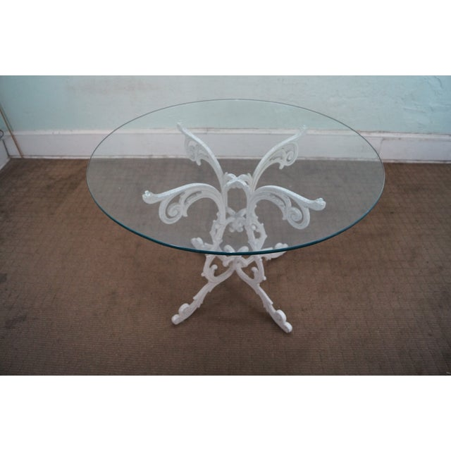 Image of Woodard Vintage Cast Aluminum Rococo Patio Set