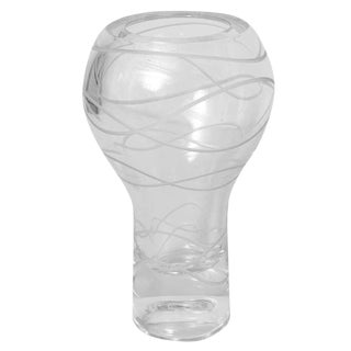 Karim Rashid Textural & Sculptural Taglio Incised Figure 8 Crystal Glass Vase
