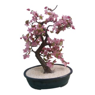 Jade Oriental Cherry Blossom Tree Sculpture
