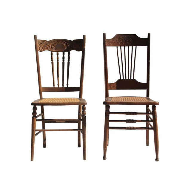 Image of Vintage Dining Chairs - A Pair