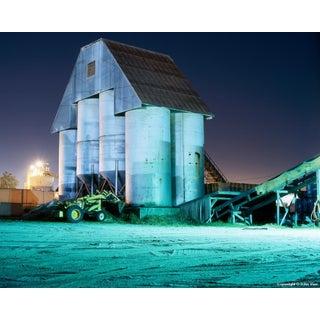 Silos - Night Photograph by John Vias