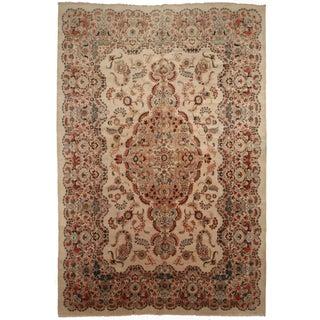 Vintage Persian Kashan Hand Knotted Wool Rug- 10′8″ × 16′