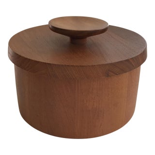 Vintage Dansk Teak Ice Bucket With Lid