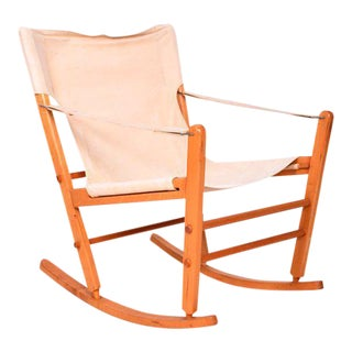 Mid-Century Modern Safari Chair Rocker