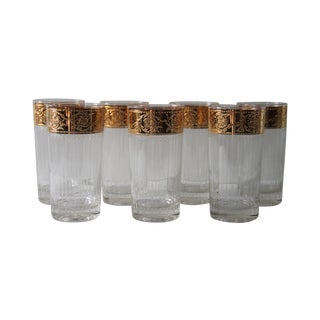 Culver Attr Vintage 1950s Tyrol Glasses - Set of 7
