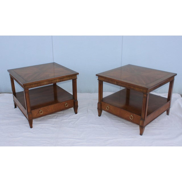 1960s Baker Tiered Nightstands - A Pair - Image 2 of 9