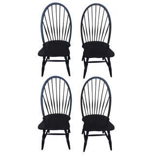 Farmhouse Style Black Chairs - Set of 4