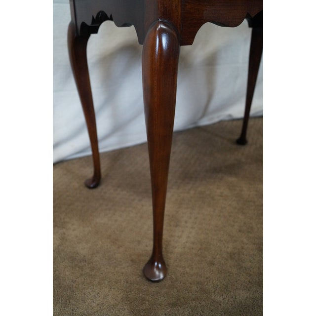 Statton Old Towne Solid Cherry Queen Anne Table - Image 8 of 10