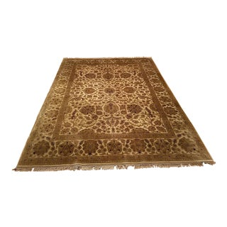Traditional Stone & Floral Area Rug - 9′ × 12′
